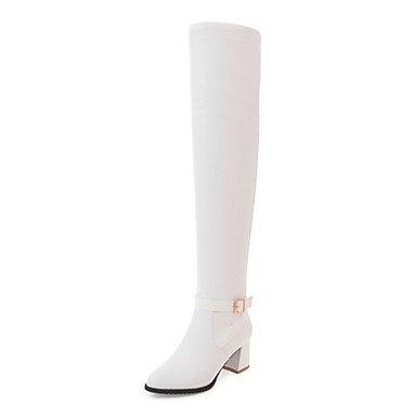 GLL&xuezi Da donna Stivaletti Stivali Autunno Inverno Finta pelle Casual Formale Cerniera Quadrato Bianco Nero 5 - 7 cm white