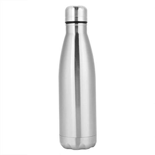 Fahrrad-Doppelwand-Wasserflasche Aus Vakuumisoliertem Edelstahl Mit Innenliegender Gummischlaufe Und Auslaufsicherem Deckel Und Weiter Öffnung (750ml) - Training Cna