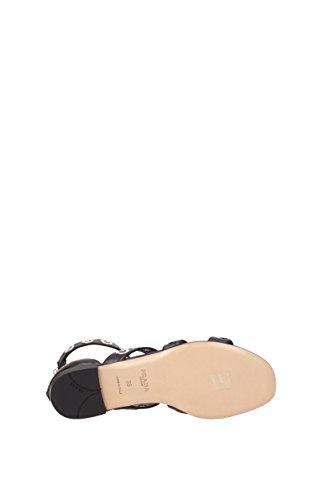 Prada Sandales Femme - Cuir (1X428G) EU Noir