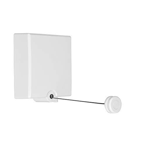 IMEEA 4,2 Meter Wäscheleine Ausziehbar für Innengebrauch Wand Wäscheleine mit ABS Gehäuse und Einstellbarer Stahleinlage Edelstahl Wäsche Leine und Wandtrockner Wäschespinne Einziehbar