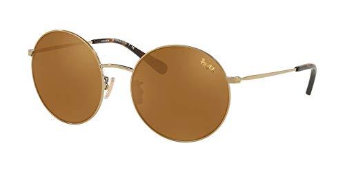 Coach - Damen, Hc7078, L1012, Sonnenbrillen, 56 mm Damen, Braun (Shiny Light Gold/Gold Mirror), Einheitsgröße