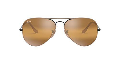 Ray-ban uomo rb3025-9153ag-58 occhiali da sole, beige (beige/negro), 58
