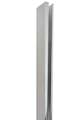 Alu-Profil - Wandprofil - Halterung - Glasscharniere - Tropfleiste - Überlaufleiste - Eckverbindung - Glastürgriff (U Aluminium Profil für Glaswände 2000m x 21mm x 47mm)