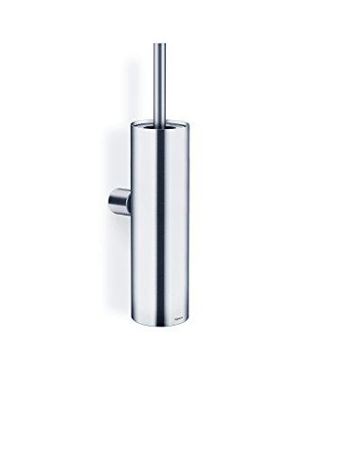 Blomus 68826 Duo - Scopino per WC con porta scopino a parete/con coperchio, in acciaio Inox lucido