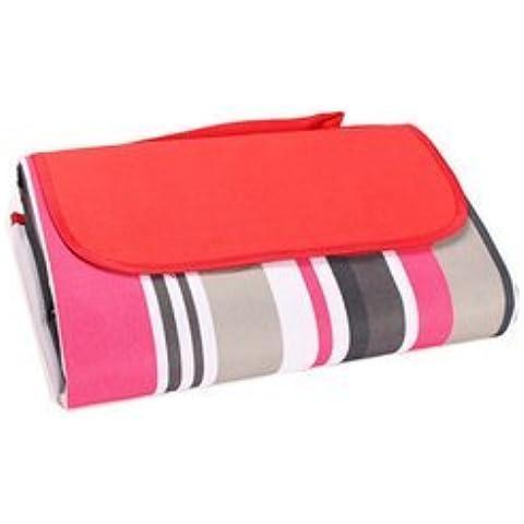 Togather® Playa manta alfombra Picnic manta agua prueba estera al aire libre, Camping manta, Multicolor alfombra de exterior (tamaño: 150x200cm) - Rojo