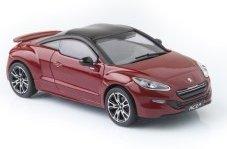 Norev-Peugeot Rcz R-2013Coche en Miniatura de colección, 473876, Rojo/Negro