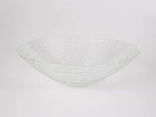 Coupelle ronde en verre LINUS, transparent, 7,5 cm, Ø 25,5 cm - Coupelle apéritif / Coupelle décorative - INNA Glas