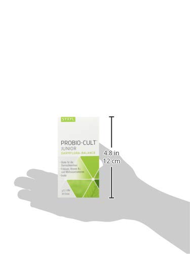 SYXYL ProBio-Cult Junior - Nahrungsergänzungsmittel mit Milchsäurebakterien, Inulin, Biotin und Vitaminen zur Darmpflege - Für Kinder und Erwachsene - 30 Sticks