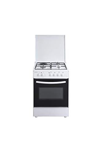Oceanic oceacm6060w8-cuisiniere Table Mixte gaz/électrique-4 foyers-Four Convection naturelle-65 l-a-l 60 x h 85cm-Blanc