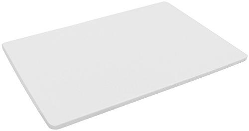 FACKELMANN HACCP-Brett, Küchenbrett aus Kunststoff, Tranchierbrett mit Farbcodierung für Backwaren (Farbe: Weiß), Menge: 1 Stück