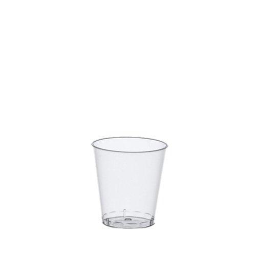 Papstar Schnapsbecher / Shotgläser (1 Karton = 30x40 Gläser, 1200 Stück), PS-Kunststoff 2 cl, Ø 3.7 cm, 4.1 cm, glasklar, mit Füllstrich, ideal für Events, wie z.B. Fasching/Karneval #12158