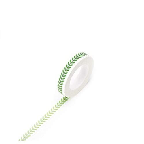 Vikenner Dekorative Washi Tape Blätter 7mm Masking Tape Aufkleber für Scrapbooking DIY Deko-Klebeband Basteln Glückwunschkarten Washitapes