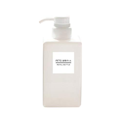 Sunlera Platz Lotion Leer Press Flasche Hand Sanitizer Shampoo-Flasche Kosmetik Reisen Lotion 450ml Container -