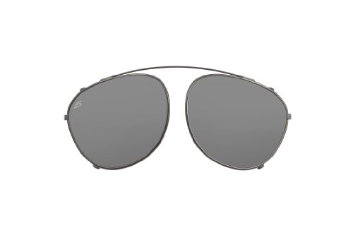 54c5b7045e2 Serengeti Palmiro Eyewear Sunglasses grey Clip Only Shiny Dark Gunmetal Size  M