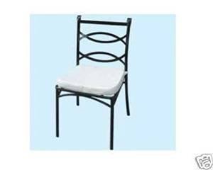 Chaise de jardin mod. Liberty complète de coussin blanc