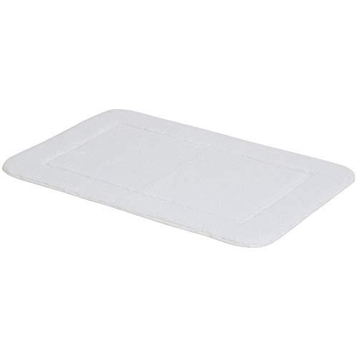AmazonBasics Set di tappeti da bagno con bordi scolpiti 2 pezzi Bianco