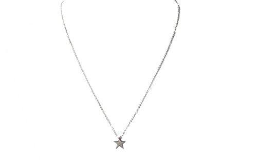 Echt Edelstahl Kette Halskette Stern Sterne