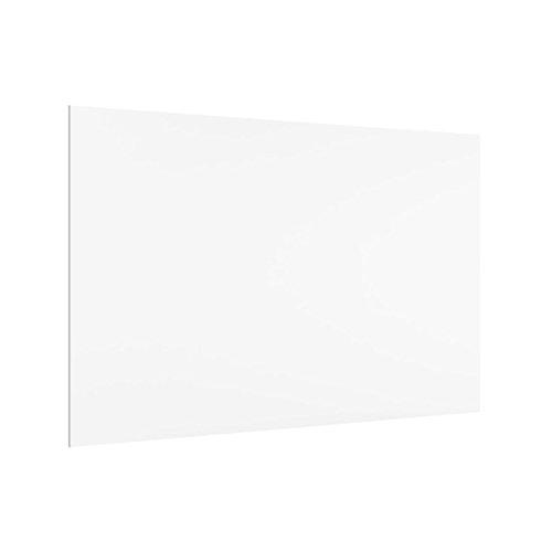 Bilderwelten Küchenrückwand aus Glas 59 x 90 cm Weiß Panorama Spritzschutzglas