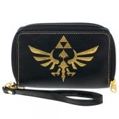Zelda Logo Black Zip Around Wallet (Wallet Logo Zip Around)