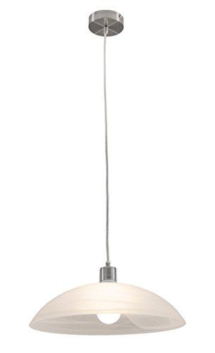 lifestyle4living Deckenleuchte, Deckenlampe, Pendelleuchte, Wohnzimmerlampe, Küchenlampe, Esszimmerlampe, Lampe, Leuchte, Nickel, Glas, Alabaster - Alabaster Glas Leuchte