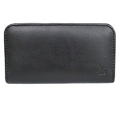 Jo Jo Rich Leather Soft Carry Case Mobile Handpouch Cover Holder For Apple Iphone 4 Cdma Black