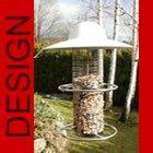 HOCHWERTIGE EDELSTAHL Vogelfutterstation mit Keramik Dach Vogelhaus