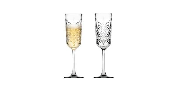 15.7/cm Set of 2/Made of Glass Pasabahce 440236/Champagne Bowl Timeless in Crystal Design Height approx