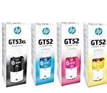 HP Ink Bottle Black & Color (GT 51 XL Black GT 52 C/M/Y) Combo Set of 4 (GT51 XL & GT52)