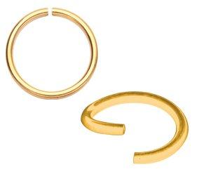Continous Piercing Ring Goldline Edelstahl 316L Lippe Nase BG-BSR Stärke 0,8mm