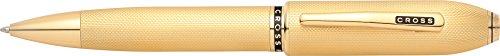 Cross Peerless Kugelschreiber Citizen (Drehmechanik, Schreibfarbe: schwarz, Swarovski Kristall) 23 karat gold plattiert