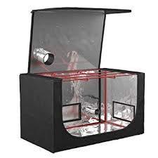 Mini tente de culture hydroponique par propagation - Accès facile avec toit à fermeture éclair - Sans PVC - Aération à double revêtement et points d'entrée de câble - 50 x 100 x 50 cm