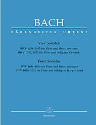 Bach: Four Sonatas for Flute and Continuo BWV1030, 1032, 1034, 1035