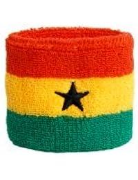 Digni® Poignet éponge avec drapeau Ghana, pack de 2