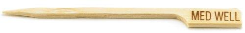 Bambus Steak Marker Plektrum-Mittel gut 9cm-Pack Größe: 1x 100 Steak Marker