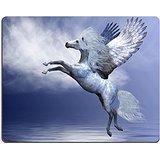MSD-Tappetino per mouse in gomma naturale, gioco foto ID: cavallo alato Pegaso 8711087 bianco pasta da spalmare bianco il suo simpatico ali in un volo su oceano