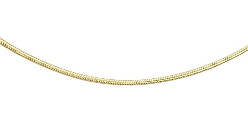 Carissima Gold Unisex 18 ct Yellow Gold Mini Snake Chain of 51 cm/20 inch