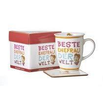 Ritzenhoff & Breker Beste Becher Kaffeebecher, Tasse, Motiv: Beste Ehefrau, Orange, 24722