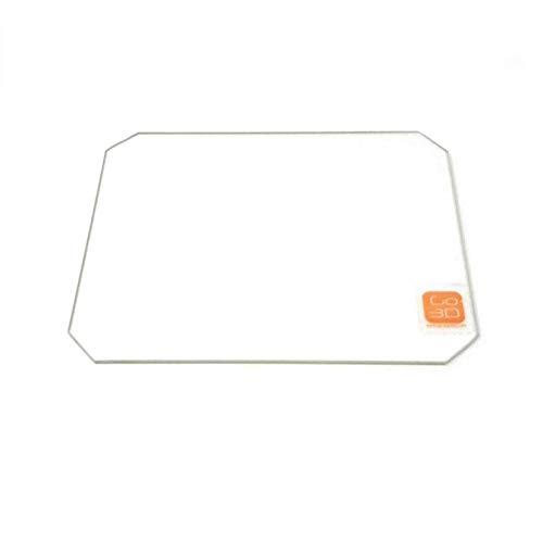 130mm x 160mm Borosil Glas Teller flach poliert Edge W/Ecken Schnitt für Monoprice MP Select Mini 3D Print -