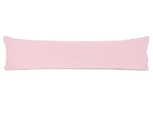 kardierter Jersey aus 100% gekämmter Baumwolle - Spannbetttuch oder Kissenhüllen in exklusiver Qualität - in 5 verschiedenen Größen und jeweils in 8 ausgesuchten Farben erhältlich, Kissenhülle 40 x 145 cm, rosa