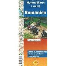 Rumänien-Motorradkarte 1 : 600  000: Routen für Tourenmotorräder. Routen für Reise-Enduros. Motorrad-Center