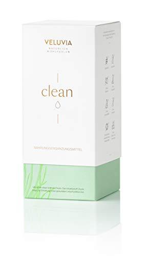 VELUVIA clean| Entgiften| Mit Cholin | vegan| Silymarin | Vitamin C | Spirulina Algen |Chlorella Algen| Afa Algen|1 Monatspackung 30 x 2 Kapseln| Nahrungsergänzungsmittel -