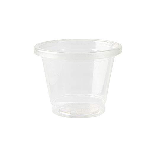 BIOZOYG Party Shot Becher kompostierbar transparent 100 Stück 30ml / 1oz I PLA Becher Schnapsgläser Einweg I biologisch abbaubare Trinkbecher Schnapsbecher Stamperl Pinnchen Shotgläser