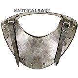medievale guerriero oscuro Gorget collo Body Armour argento taglia unica by Nauticalmart