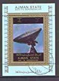 Ajman 1972 History of Space individual perf sheetlet #05 cto used with perf comb doubled at left, as Mi 2785A SPACE JandRStamps
