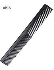 Lautechco® 100Herren Frauen Salon Schwarz Kunststoff Haare Schneiden Zahn Kamm Barber Werkzeug Friseur Haarbürste (zufällige Farbe)