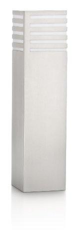 Philips Veranda Palo Basso da Esterno, Alluminio Grigio, 10 x 10 x 40 cm, Lampadina Inclusa
