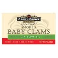 Crown Prince Natural - Smoked Baby Clams 3 Oz. 79143