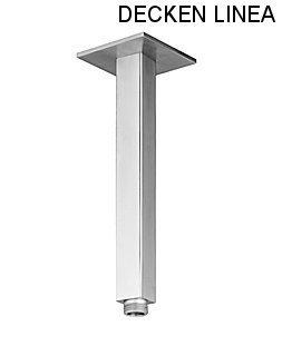 delanwa 604066 plafond Bras Bras de douche pour pomme de douche 40 cm LINEA en acier inoxydable brossé