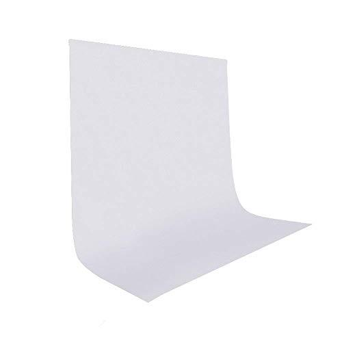 UTEBIT Backdrop Weiß 1.5 x 2 M Background Fotostudio Faltbare 5 x 7FT Faltenfrei Fotoshooting Hintergrund für Hintergrundstand,Fotografie, Video und Fernsehen (Zusammenklappbar 5x7 Hintergrund)