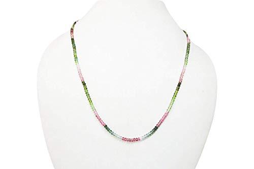 Wassermelone Tourmaline Rondelle Perlen Halskette Strand mit Sterling Silber Erkenntnisse von Anushruti Handgemachte Schmuck 16
